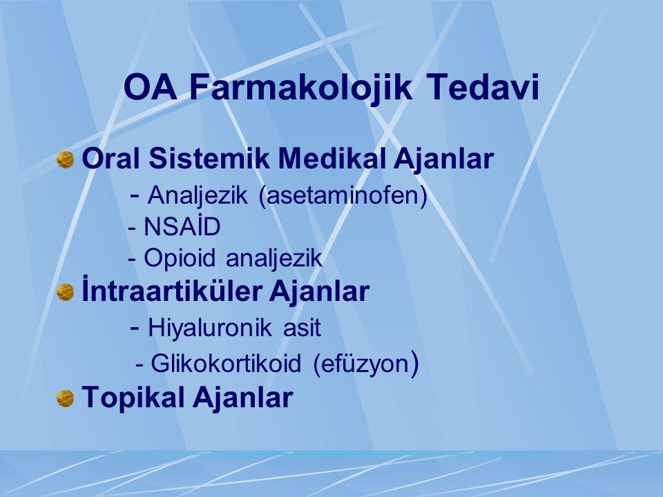 OA Farmakolojik Tedavi