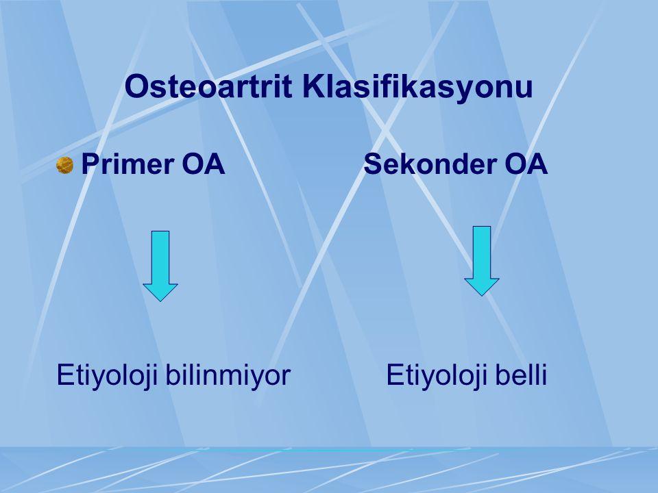 Osteoartrit Klasifikasyonu