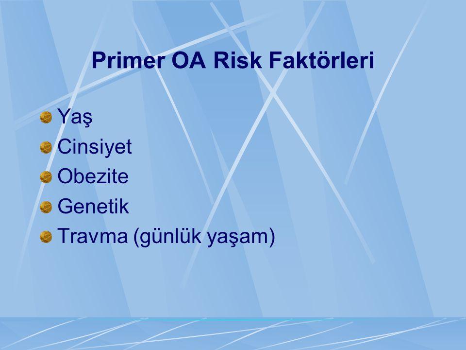Primer OA Risk Faktörleri