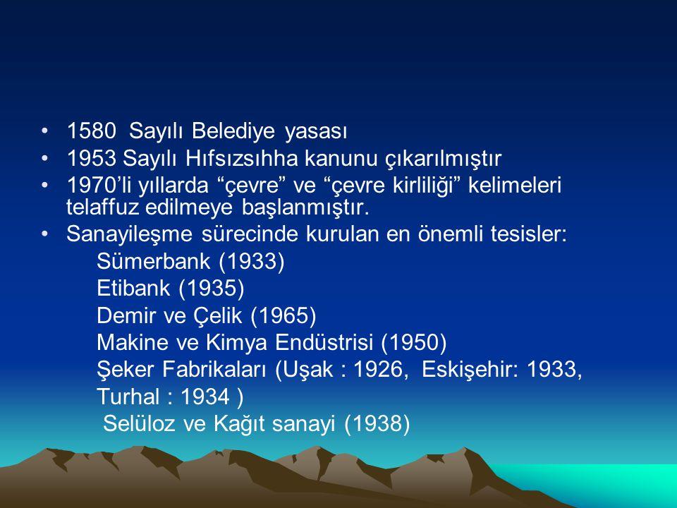 1580 Sayılı Belediye yasası