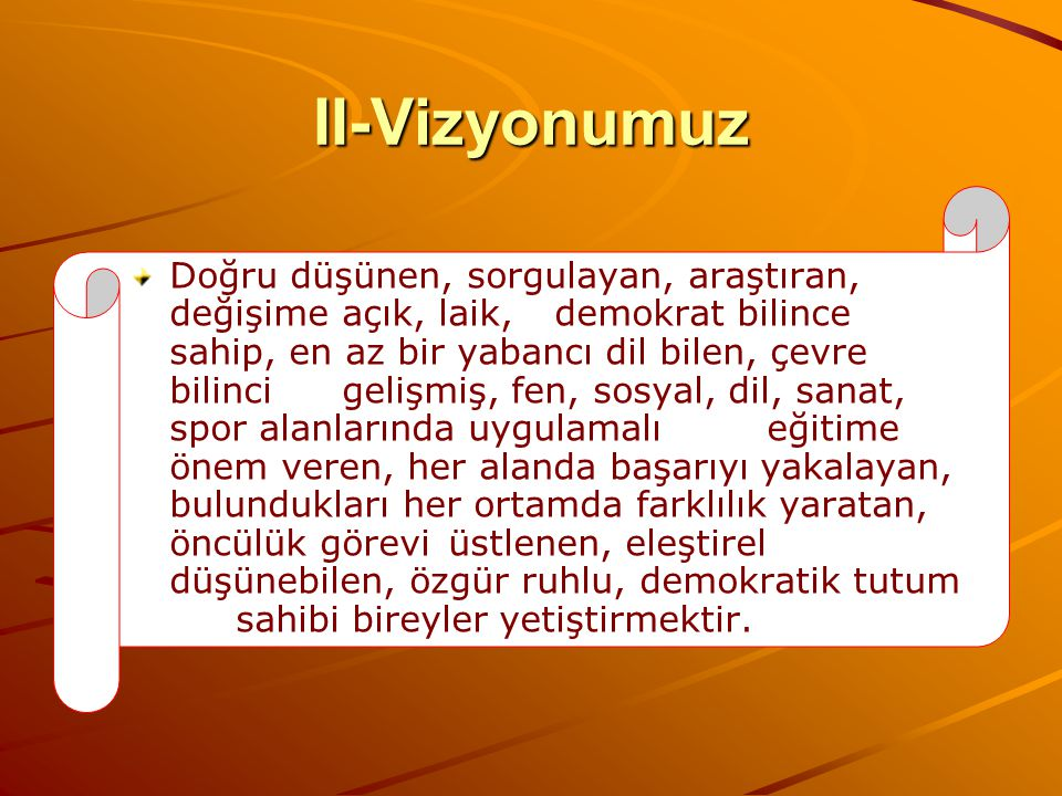 II-Vizyonumuz