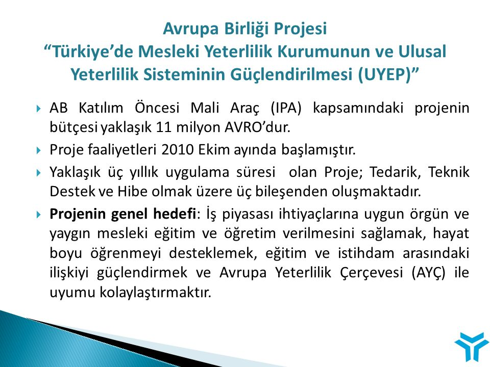 Avrupa Birliği Projesi