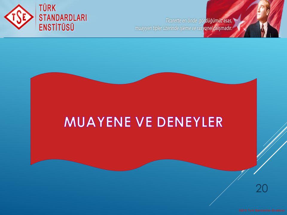 MUAYENE VE DENEYLER ©2013 Türk Standardları Enstitüsü