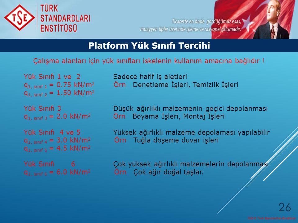 Platform Yük Sınıfı Tercihi