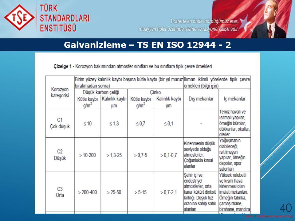 Galvanizleme – TS EN ISO 12944 - 2