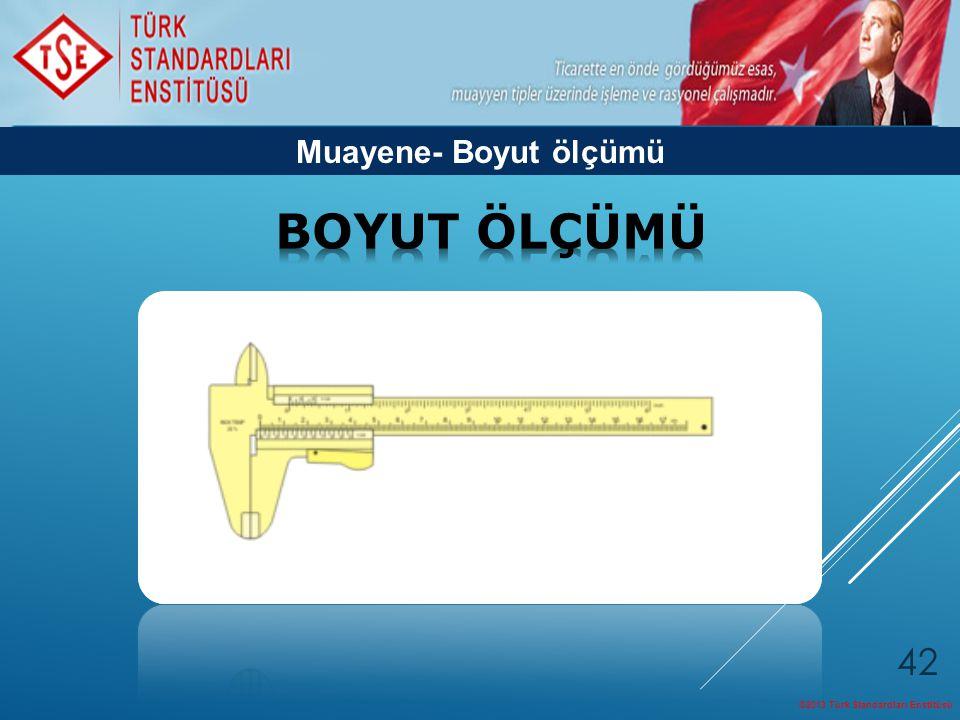 Muayene- Boyut ölçümü BOYUT ÖLÇÜMÜ ©2013 Türk Standardları Enstitüsü