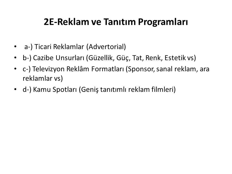 2E-Reklam ve Tanıtım Programları