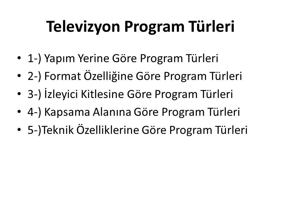 Televizyon Program Türleri