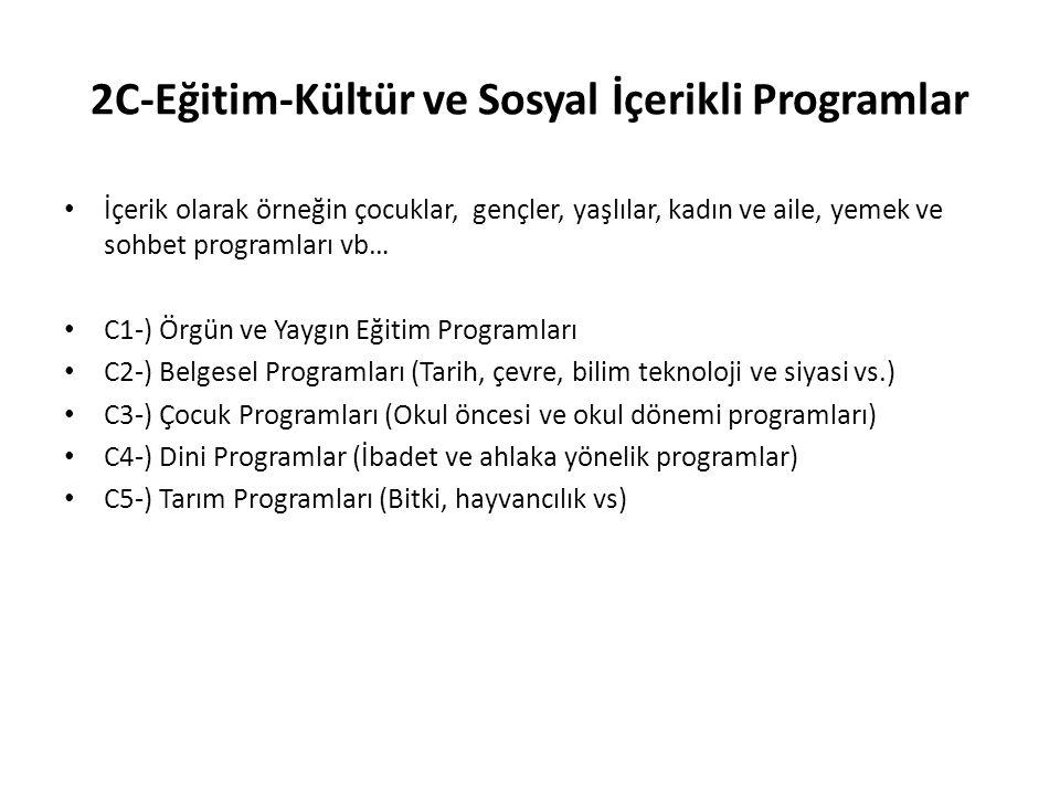 2C-Eğitim-Kültür ve Sosyal İçerikli Programlar