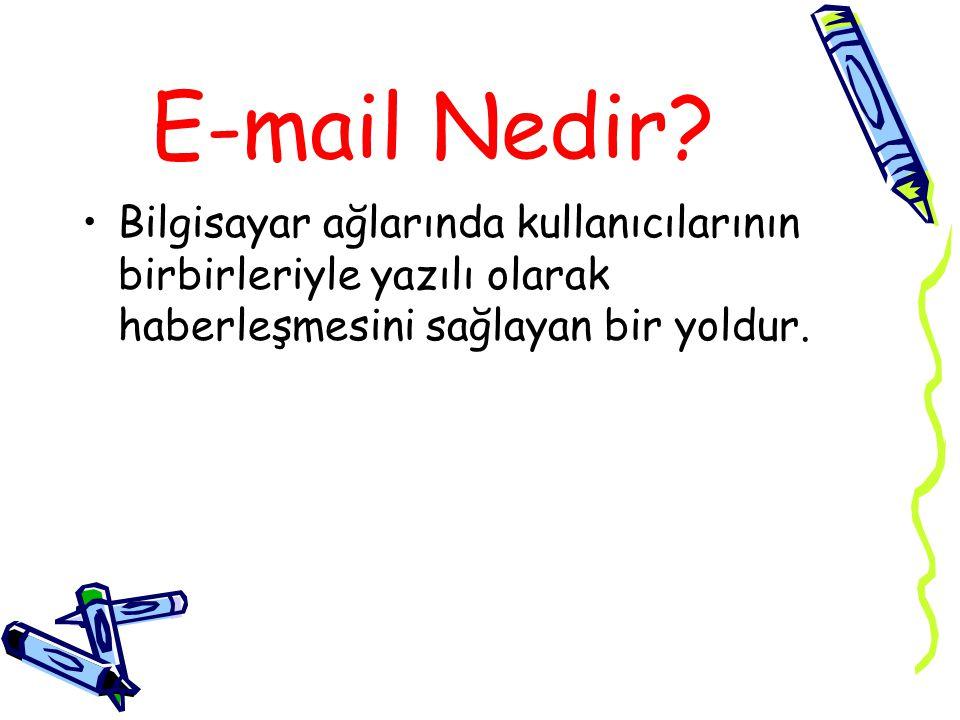E-mail Nedir.