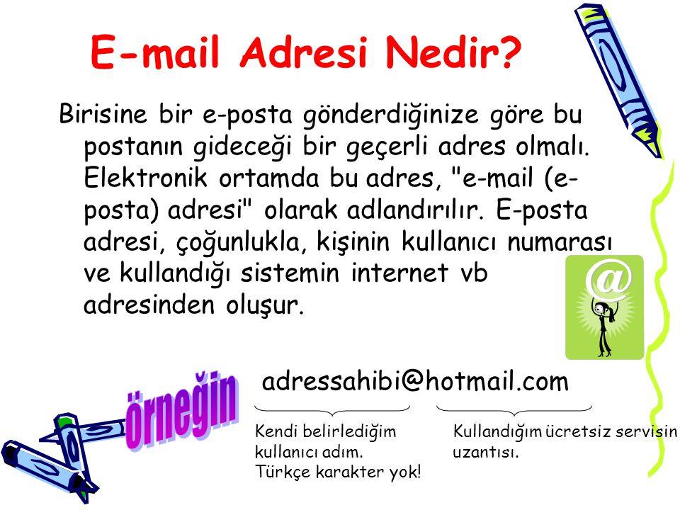E-mail Adresi Nedir örneğin