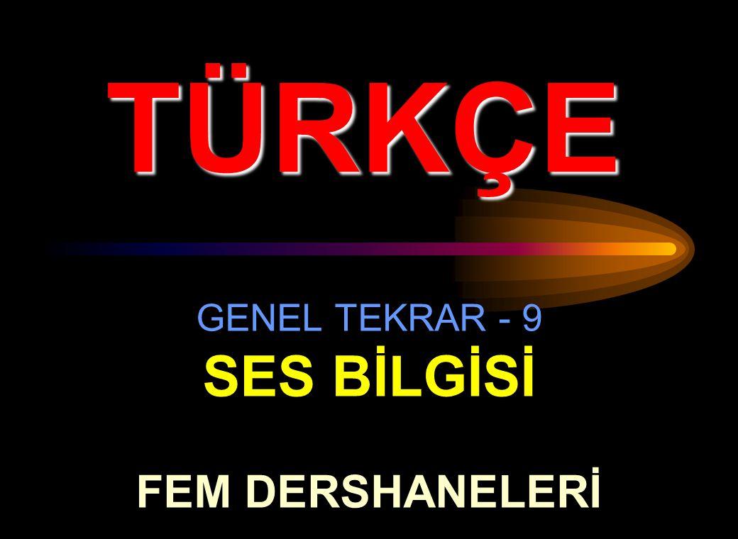 GENEL TEKRAR - 9 SES BİLGİSİ FEM DERSHANELERİ