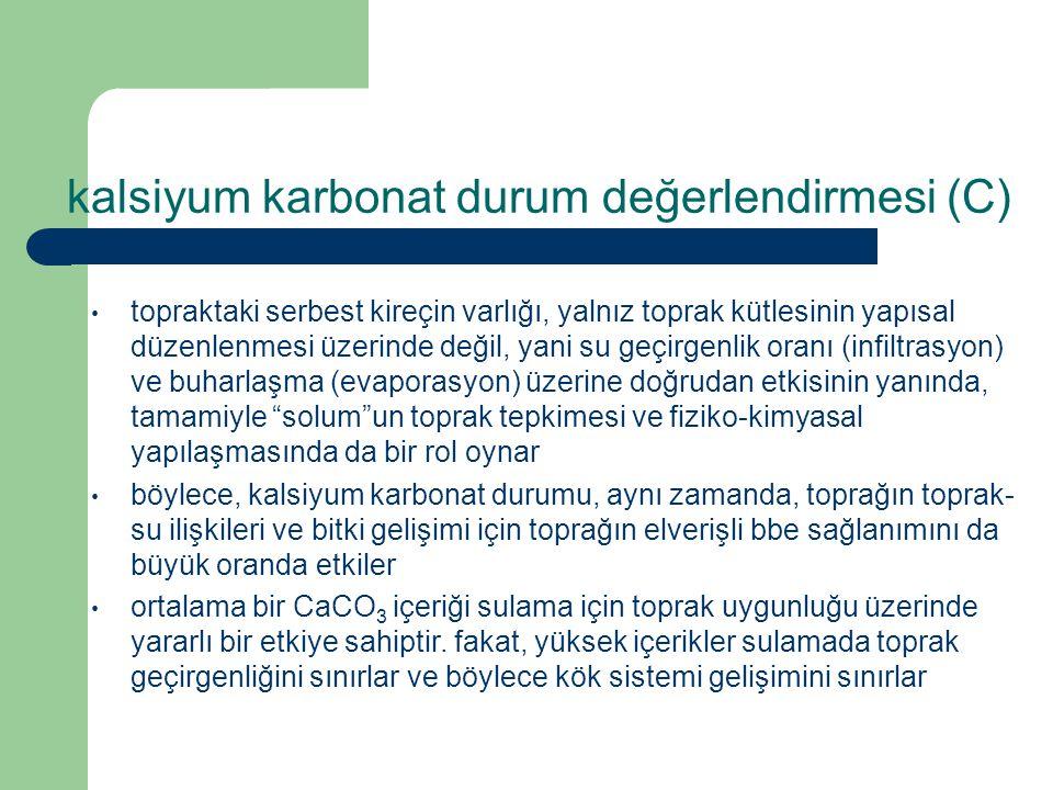 kalsiyum karbonat durum değerlendirmesi (C)