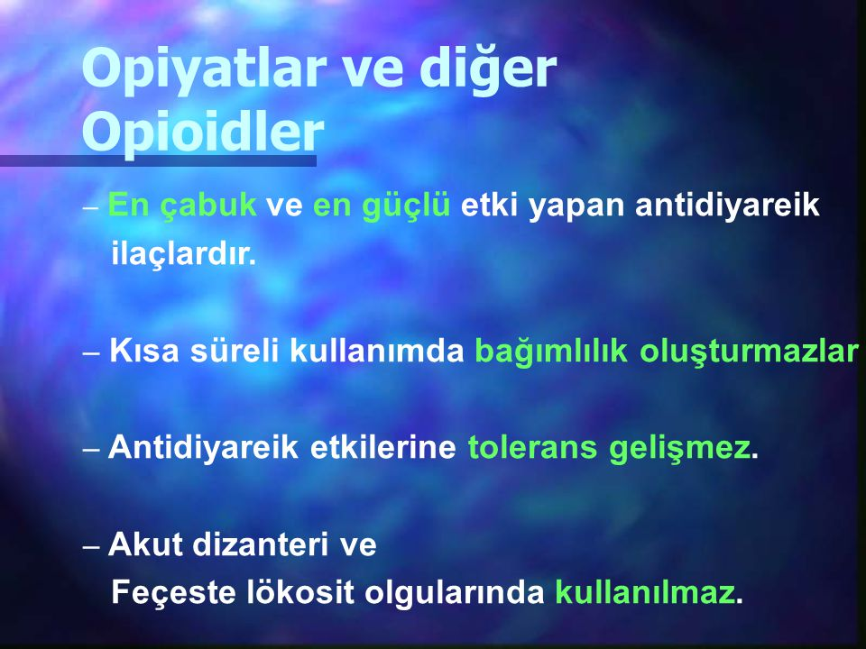 Opiyatlar ve diğer Opioidler