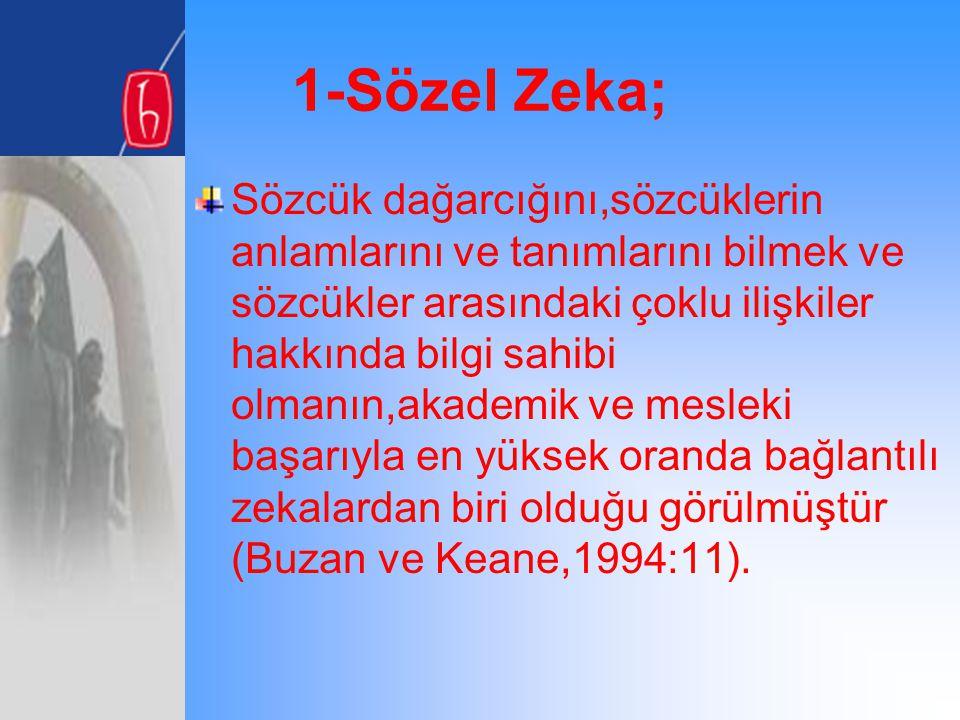 1-Sözel Zeka;