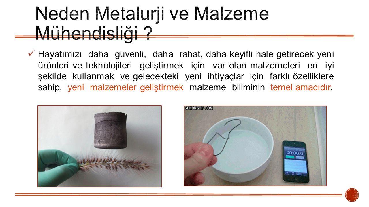 Neden Metalurji ve Malzeme Mühendisliği