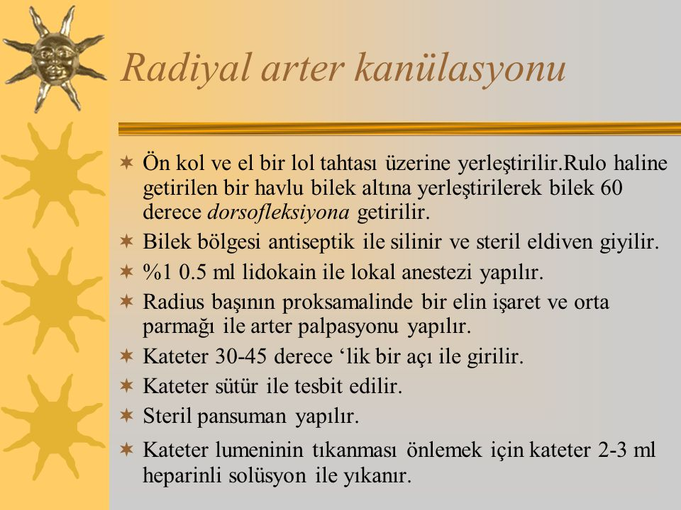 Radiyal arter kanülasyonu