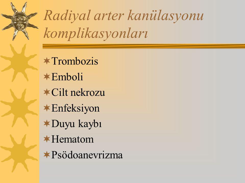 Radiyal arter kanülasyonu komplikasyonları