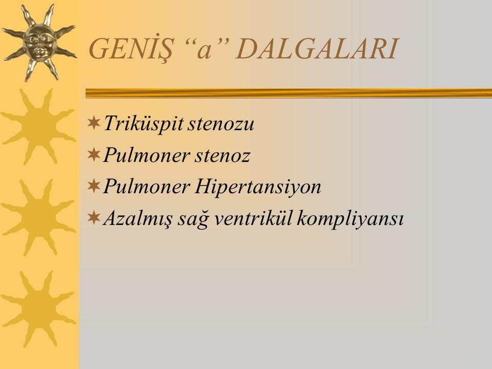 GENİŞ a DALGALARI Triküspit stenozu Pulmoner stenoz