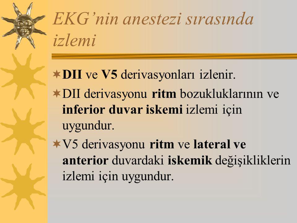 EKG'nin anestezi sırasında izlemi