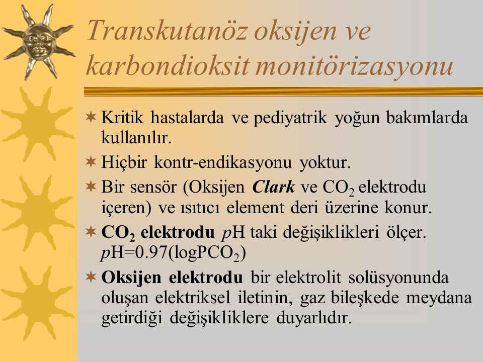 Transkutanöz oksijen ve karbondioksit monitörizasyonu