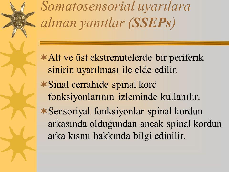Somatosensorial uyarılara alınan yanıtlar (SSEPs)