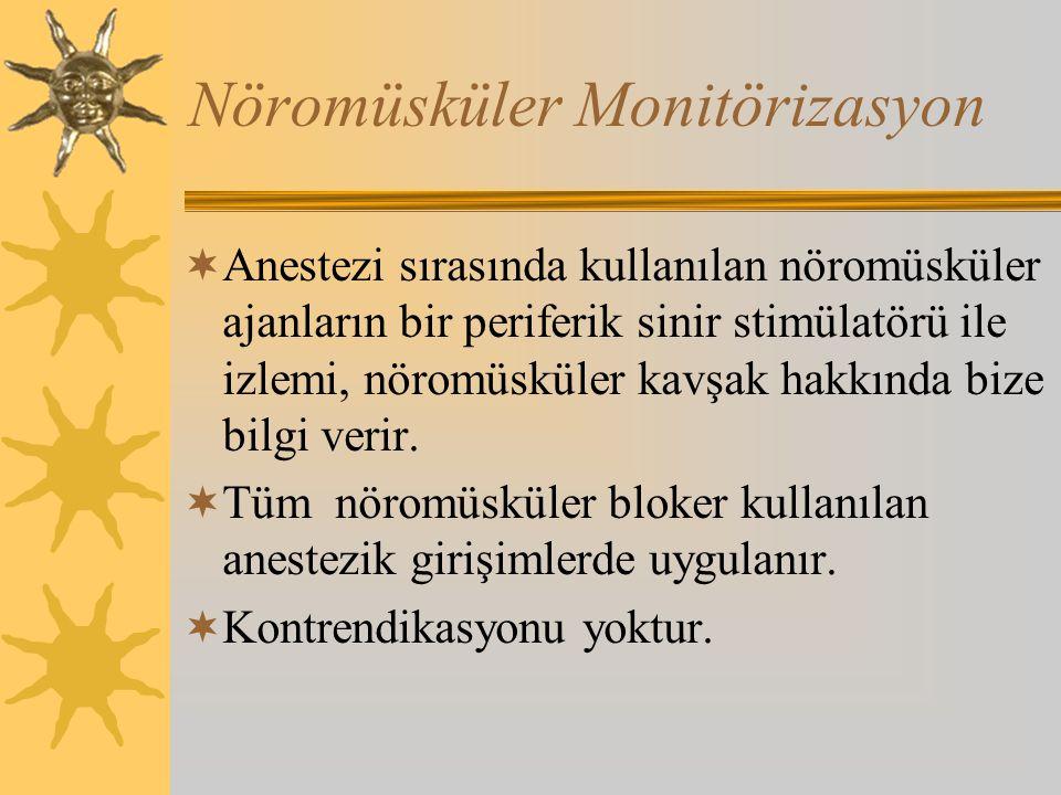 Nöromüsküler Monitörizasyon