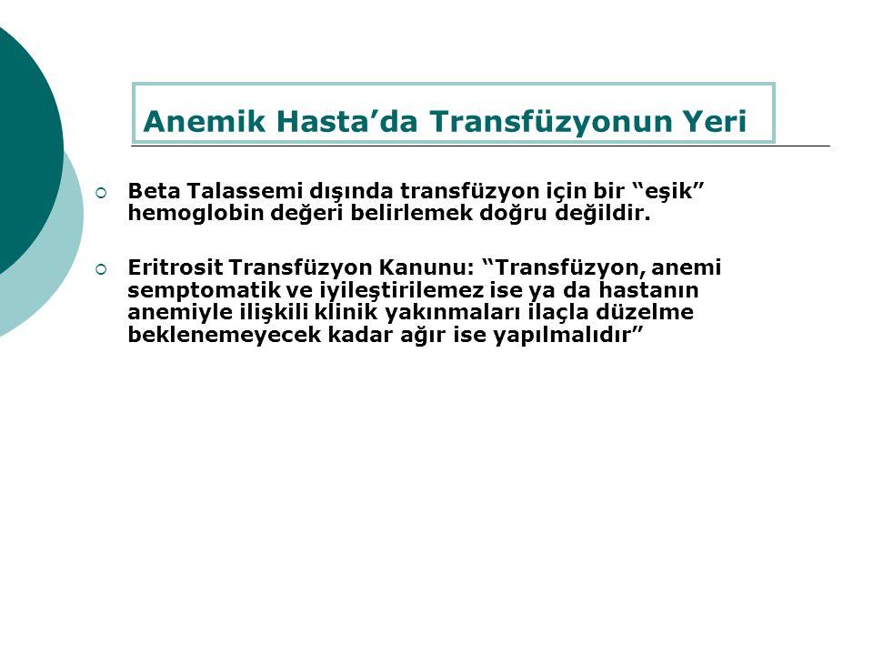 Anemik Hasta'da Transfüzyonun Yeri