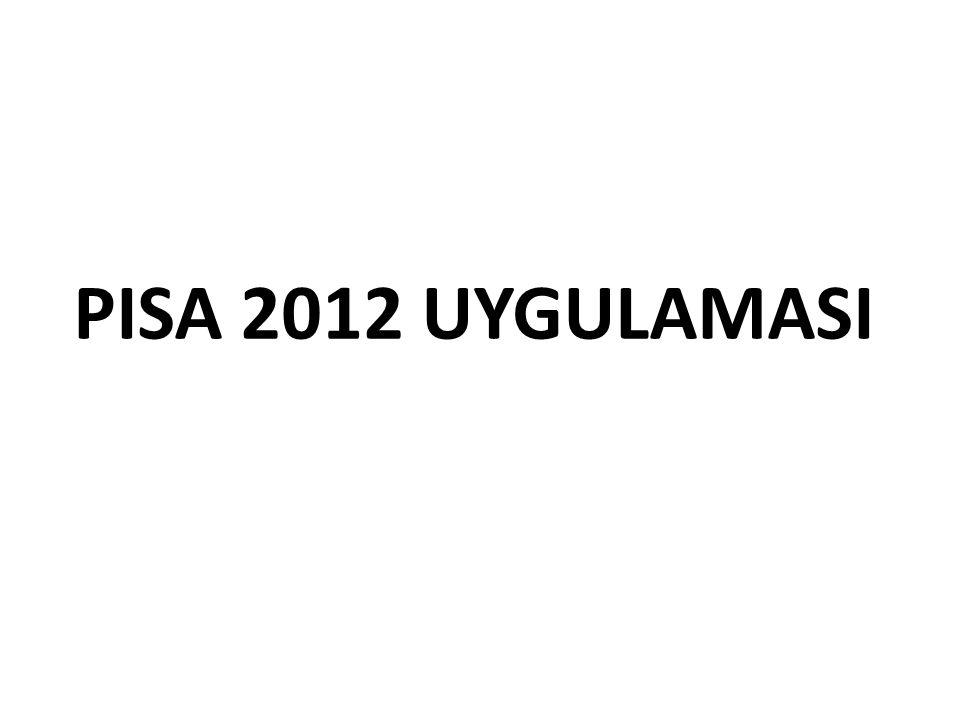 PISA 2012 UYGULAMASI