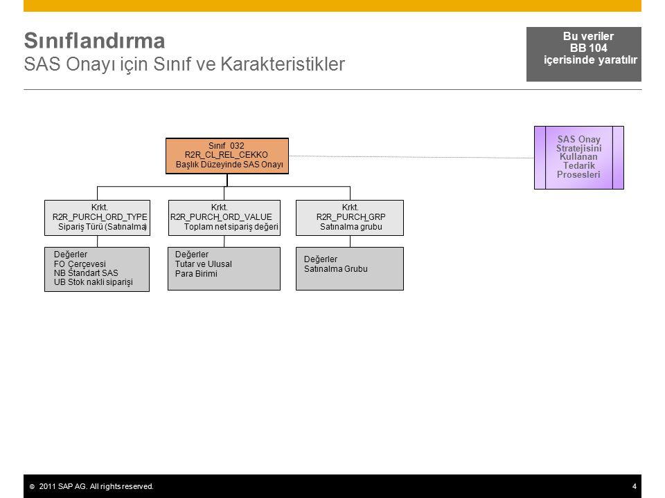 Sınıflandırma SAS Onayı için Sınıf ve Karakteristikler