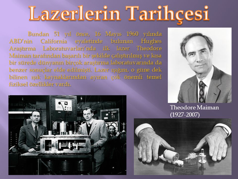 Lazerlerin Tarihçesi