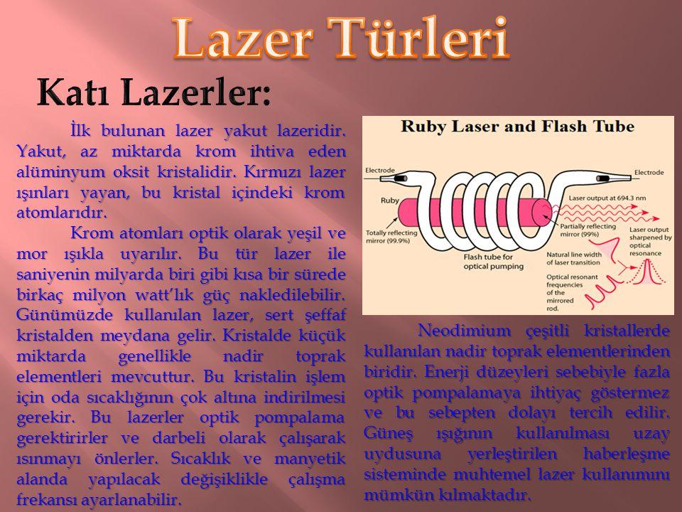 Lazer Türleri Katı Lazerler: