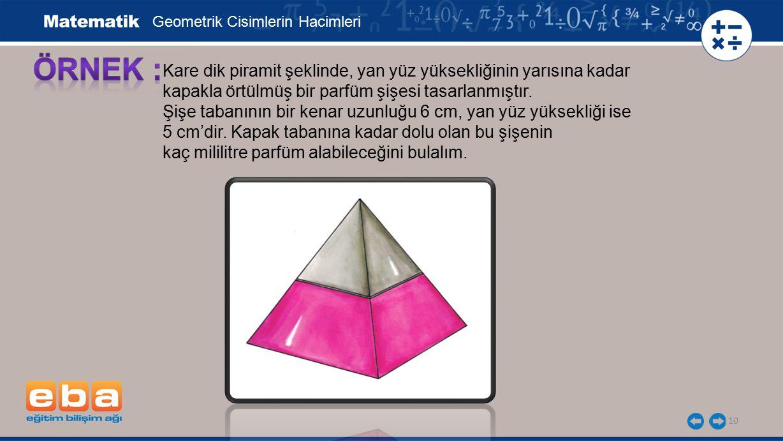 Geometrik Cisimlerin Hacimleri