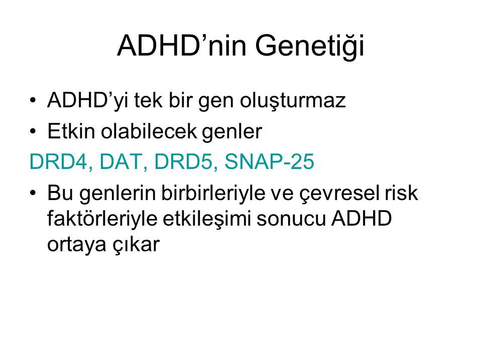 ADHD'nin Genetiği ADHD'yi tek bir gen oluşturmaz