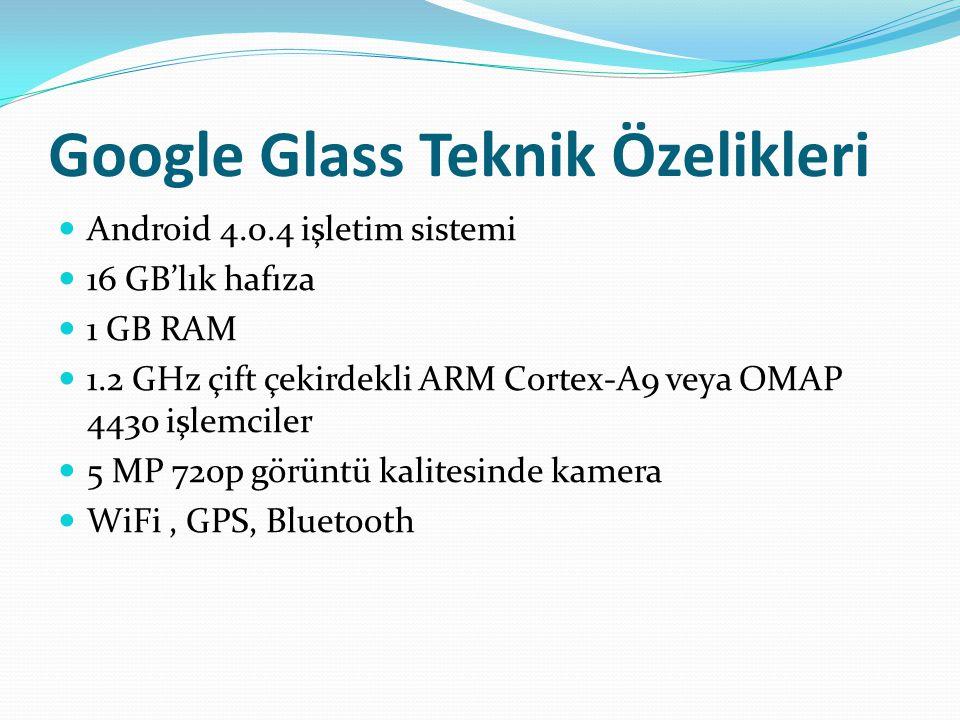 Google Glass Teknik Özelikleri