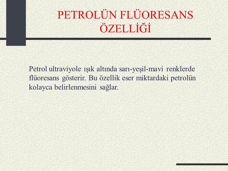 PETROLÜN FLÜORESANS ÖZELLİĞİ