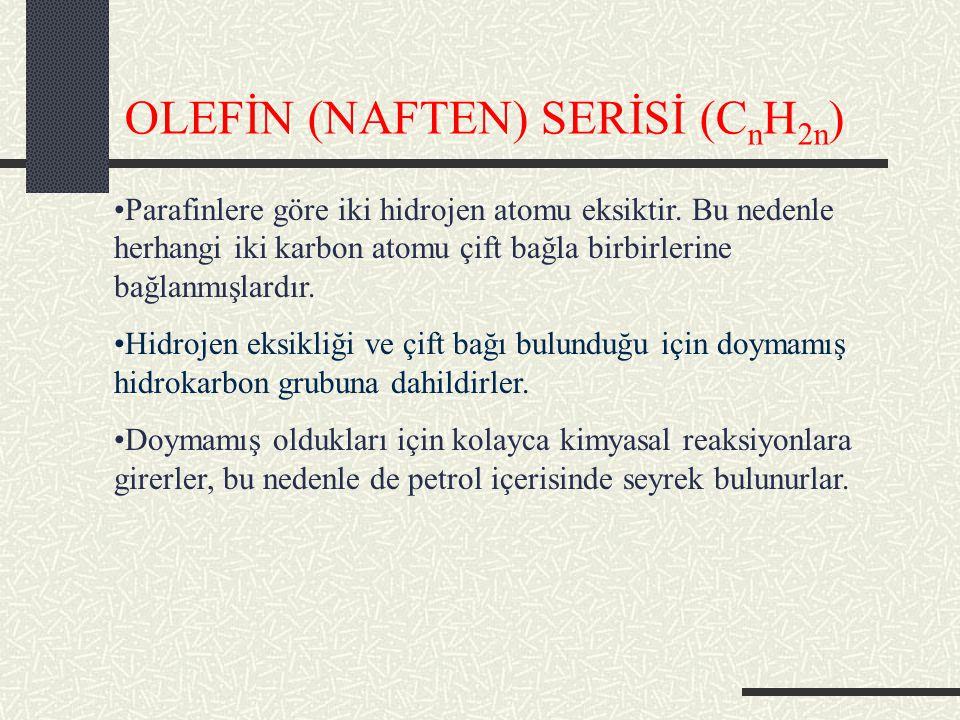 OLEFİN (NAFTEN) SERİSİ (CnH2n)