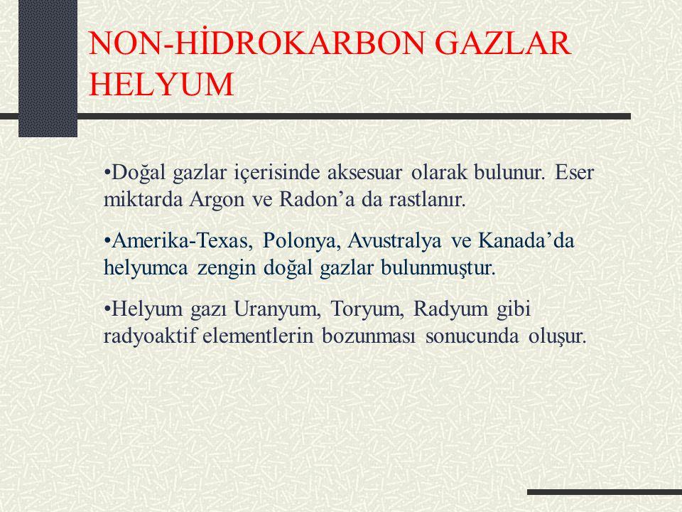 NON-HİDROKARBON GAZLAR HELYUM