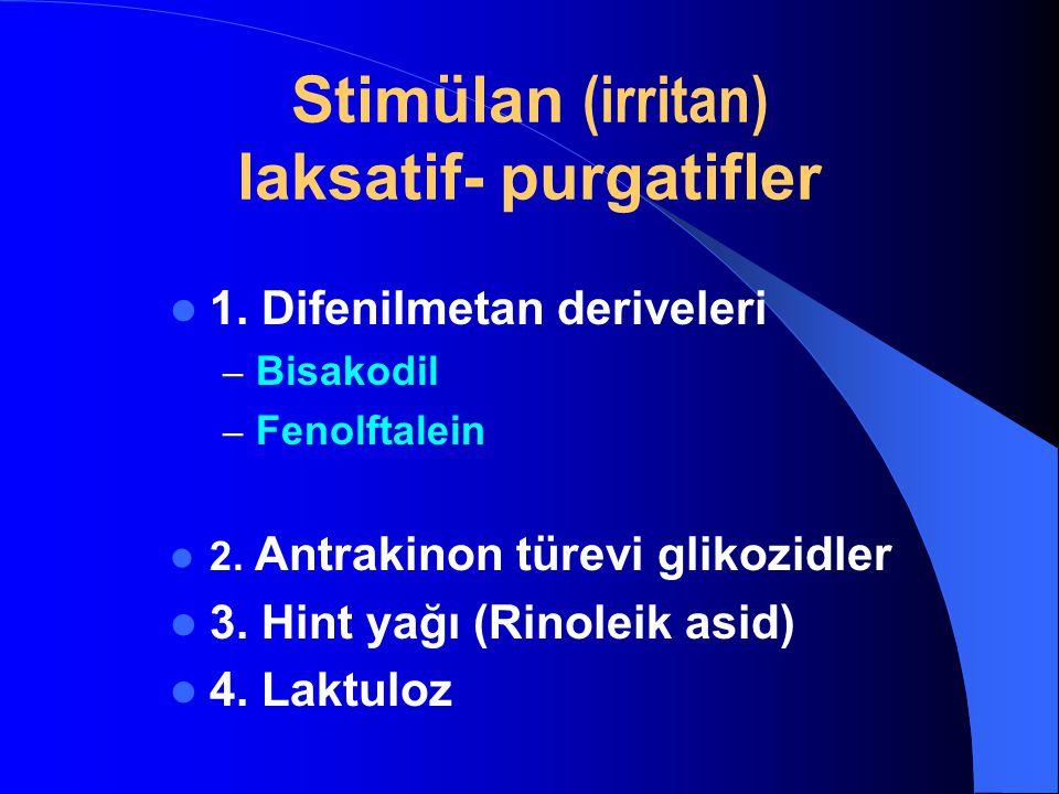 Stimülan (irritan) laksatif- purgatifler
