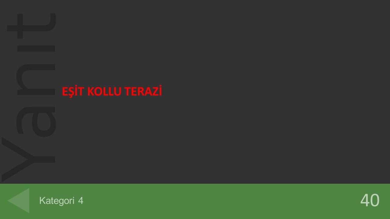 EŞİT KOLLU TERAZİ Kategori 4 40