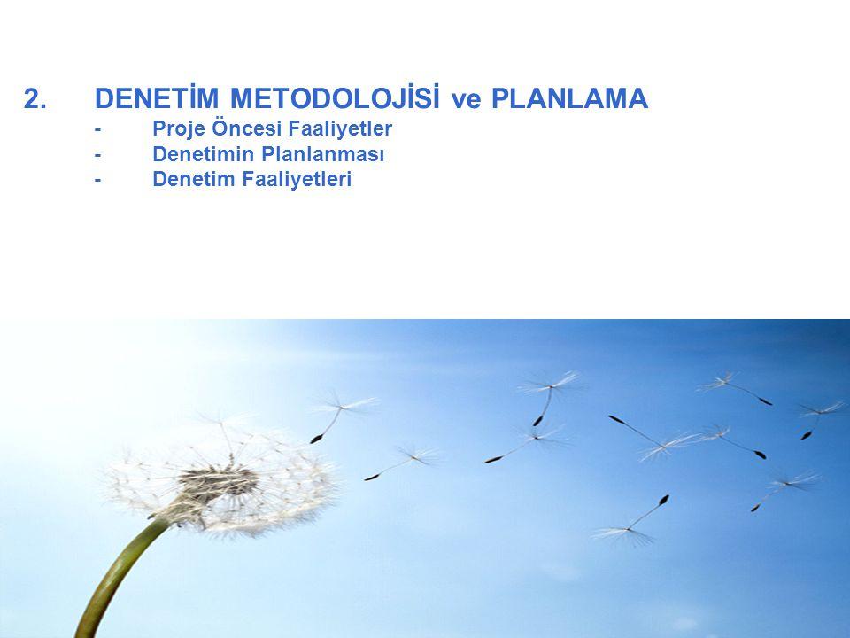 2. DENETİM METODOLOJİSİ ve PLANLAMA