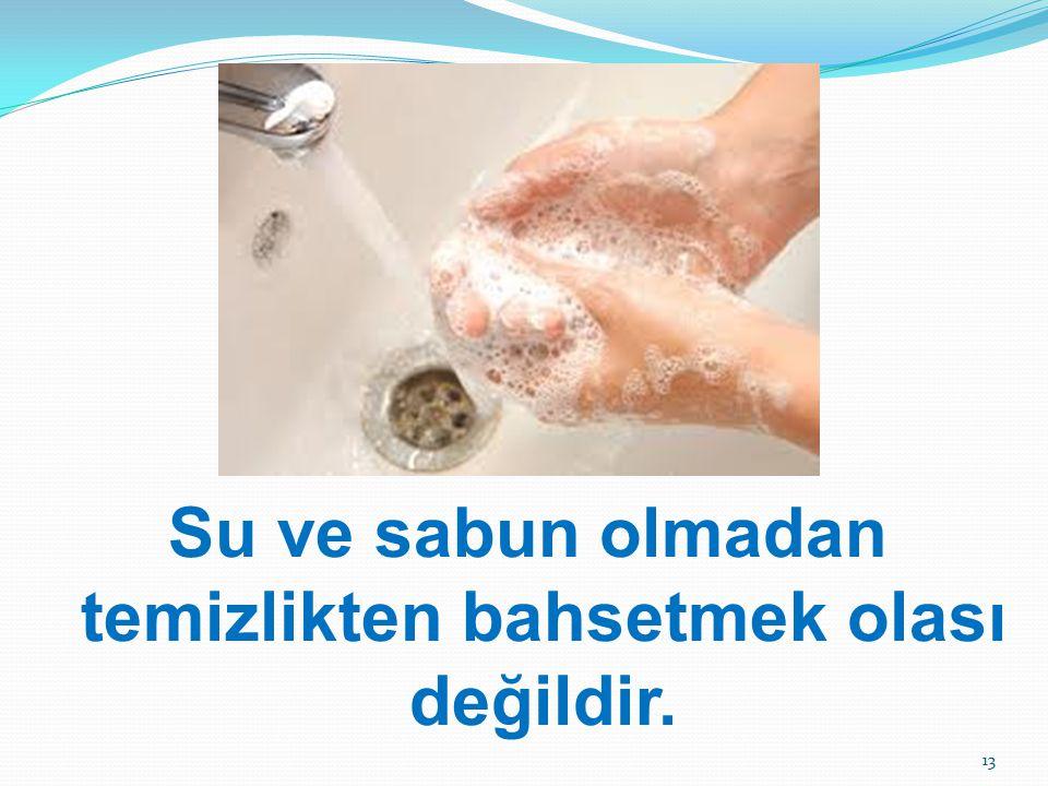 Su ve sabun olmadan temizlikten bahsetmek olası değildir.