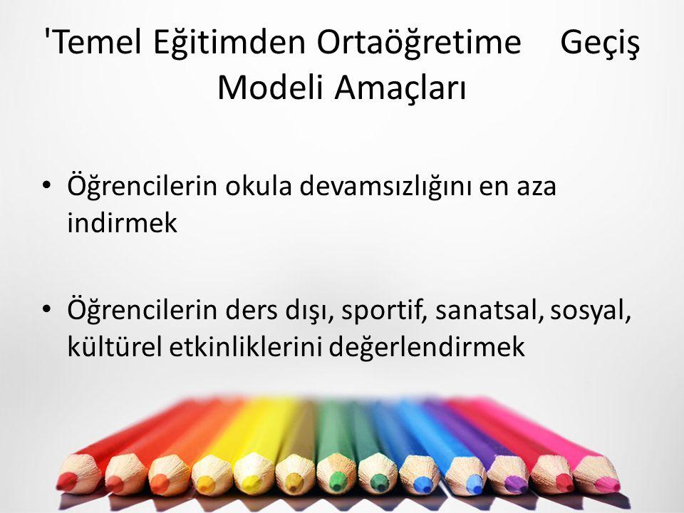 Temel Eğitimden Ortaöğretime Geçiş Modeli Amaçları