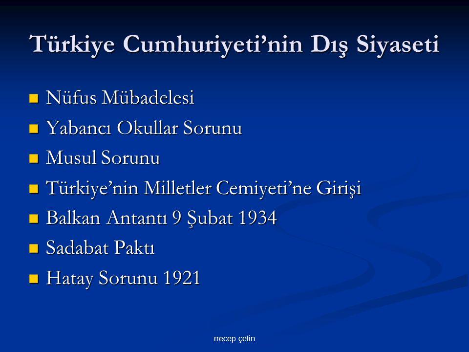Türkiye Cumhuriyeti'nin Dış Siyaseti