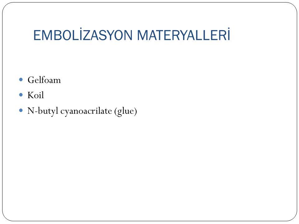 EMBOLİZASYON MATERYALLERİ
