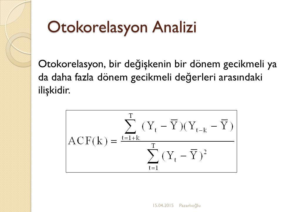 Otokorelasyon Analizi