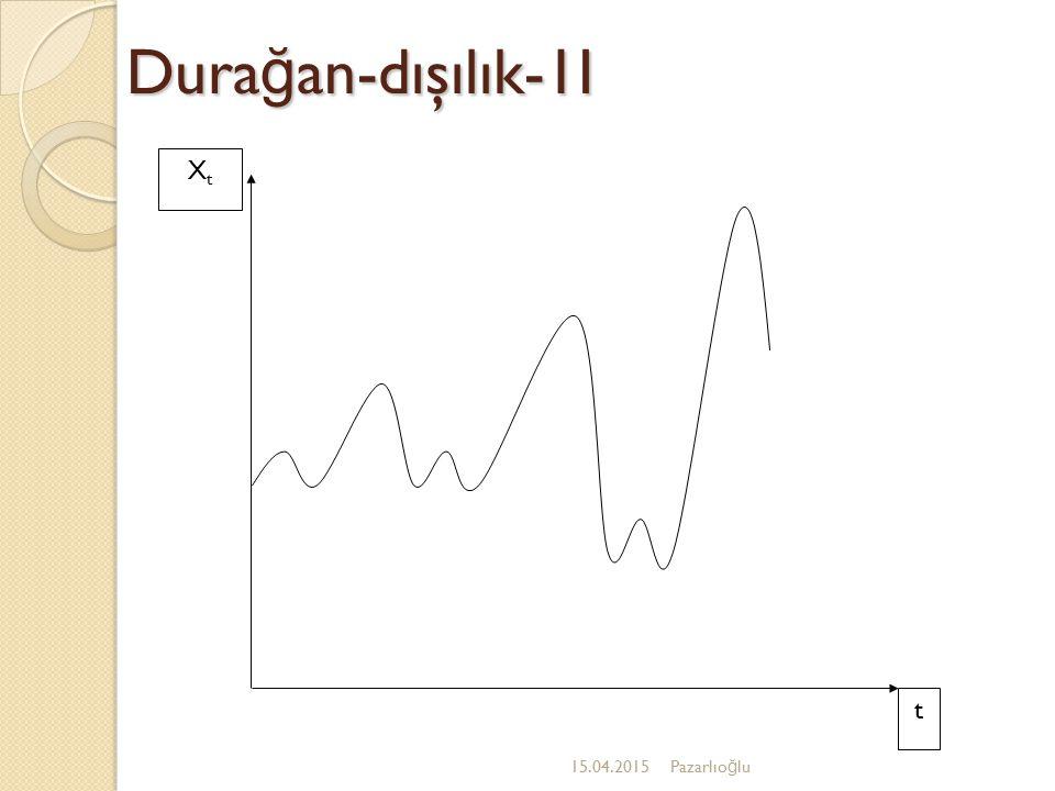 Durağan-dışılık-1I Xt t 12.04.2017 Pazarlıoğlu