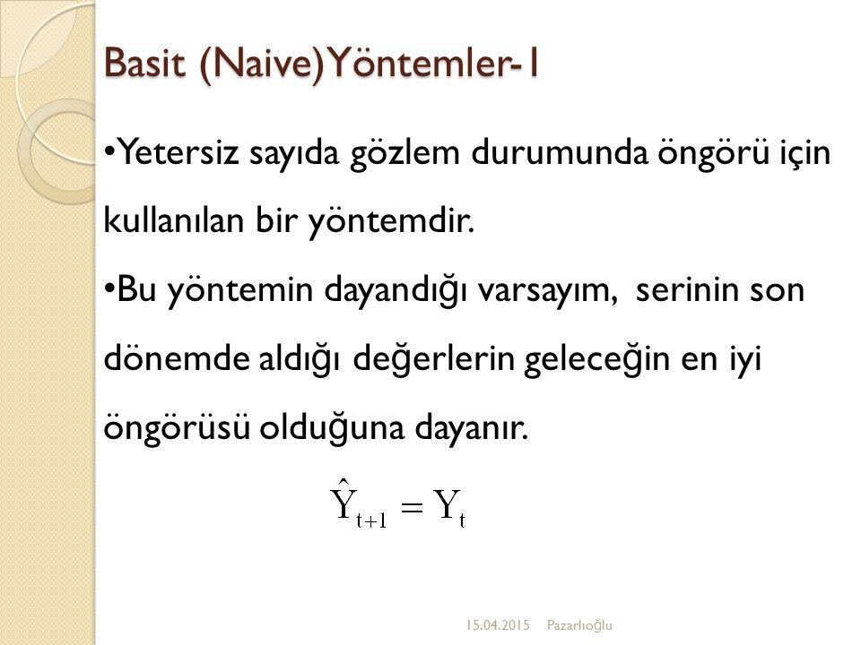 Basit (Naive)Yöntemler-1