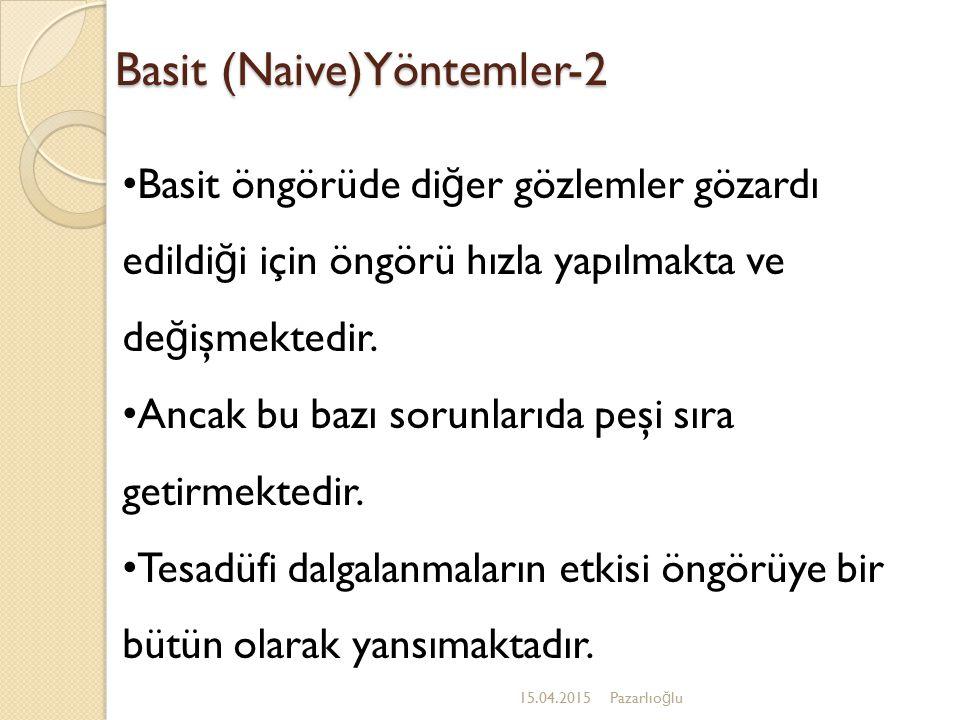 Basit (Naive)Yöntemler-2