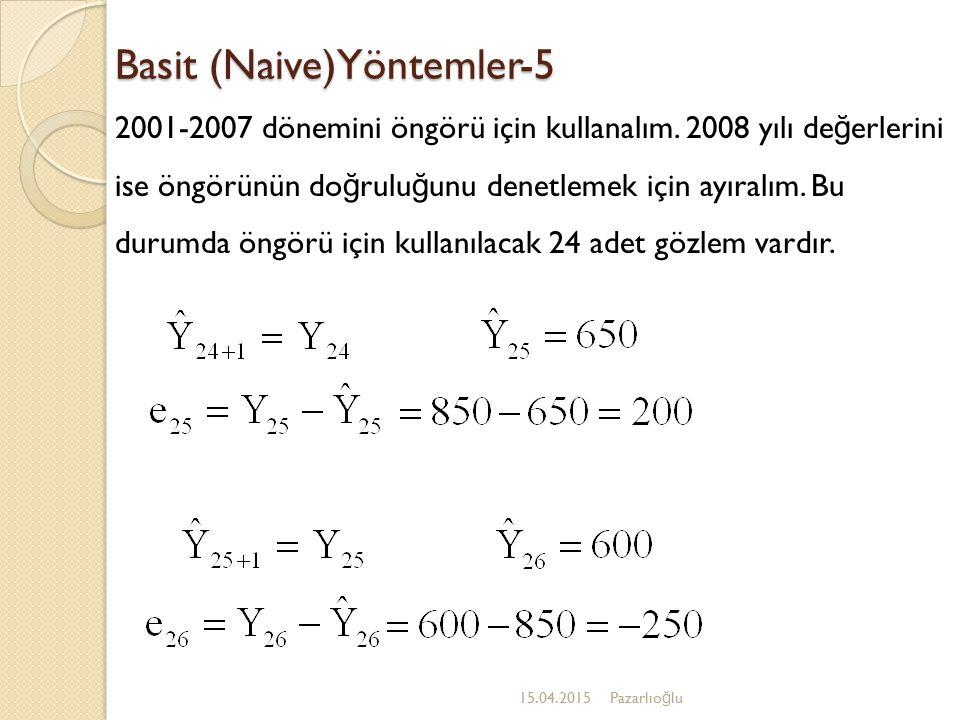 Basit (Naive)Yöntemler-5
